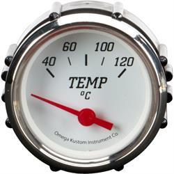 """2"""" Metric Temperature Gauge, White"""