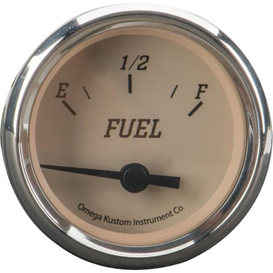 "2"" Fuel Level Gauge, Beige, 0-90 Ohm"