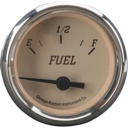"2"" Fuel Level Gauge, Beige, 0-90 Ohm"