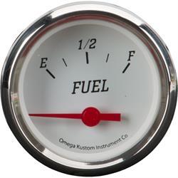 """2"""" Fuel Gauge, White"""