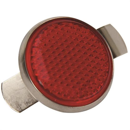 1949-1950 Chevy Tail Light Red Reflector with Bezel