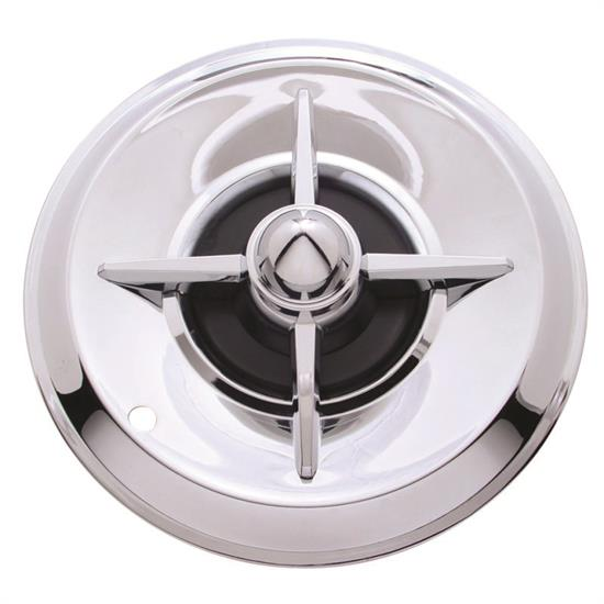 1957 Lancer 14 Inch Chrome Hubcaps, Set of 4