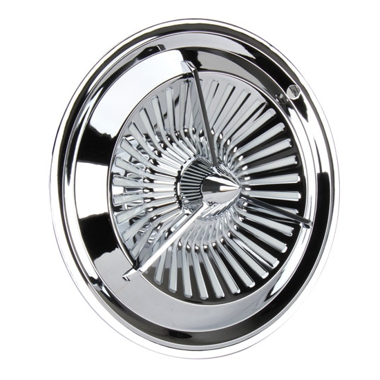 polara style tri bar turbine chrome hubcaps 15 inch set 4 ebay. Black Bedroom Furniture Sets. Home Design Ideas