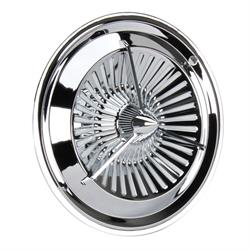 Polara Style Tri-Bar Turbine Chrome Hubcaps, 15 Inch, Set/4