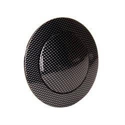 GM Aluminum Carbon Fiber Steering Wheel Horn Button, 9 Bolt