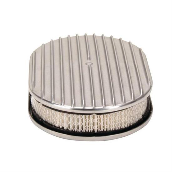 Speedway Finned Aluminum Oval Air Cleaner, 12 Inch