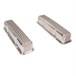 Aluminum Valve Covers, Small Block Chevy, Tall, Finned, Pair