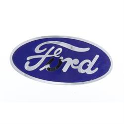 Blue Porcelain Ford Radiator Emblem for 1932 Car, 1932-35 Pickup
