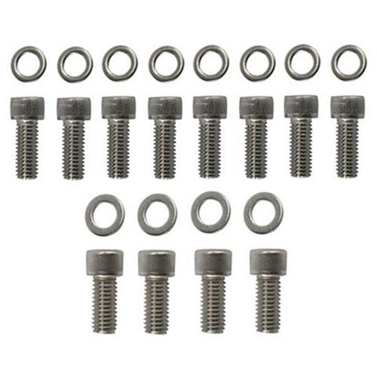Stainless Steel Flathead Ford V8 Fenton Header Bolts, Set/12