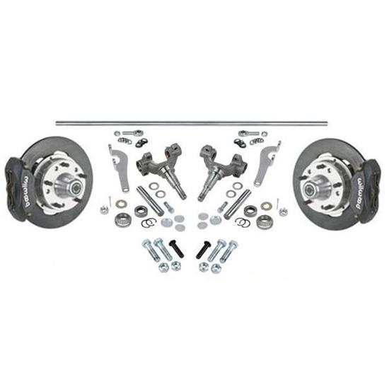 Chevy Wilwood Front Brake & Steering Kits, 48 Inch Axle