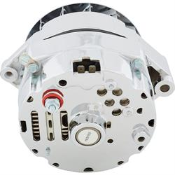 King Chrome 1969-Up GM Alternator, 80 Amp, 3-Wire, Internal Regulator
