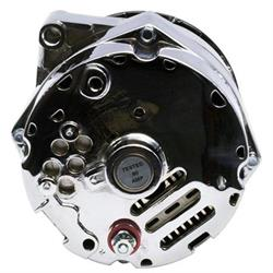 King Chrome 1969-Up GM Alternator, 80 Amp, 3-Wire, Internal Regulator