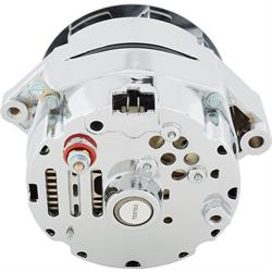 King Chrome 1963-68 GM Alternator, 4-Wire Ext Regulator, 80 Amp