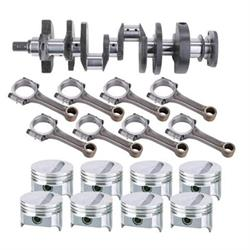 SB Chevy Rotating Assembly, 350 Flat Top-2 Valve Relief, 6 Rod