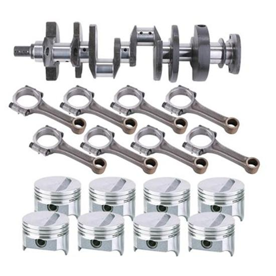 SB Chevy Rotating Assembly, 377 Flat Top-2 Valve Relief, 5.7 Rod