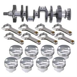 Premium Small Block Chevy Rotating Assembly, 383 Flat Top, 6 Inch Rods