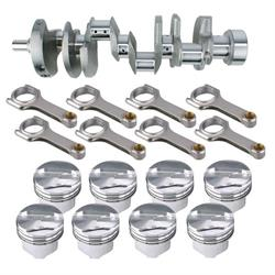 Premium Chevy 383 Rotating Assembly, 1-Piece Main, .150 Dome, 6.0 Rod