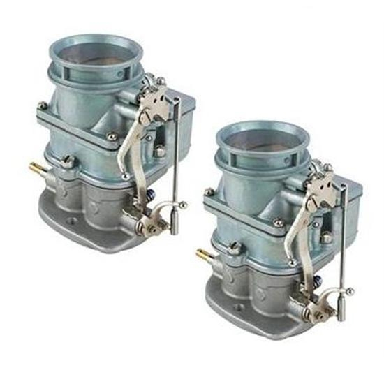 Pair of Primary 9 Super 7® 3-Bolt 2-Barrel Carbs, Plain Finish