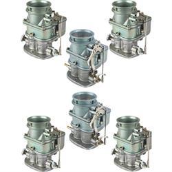 Set of 6 9 Super 7® 3-Bolt 2-Barrel Carburetors, Plain Finish