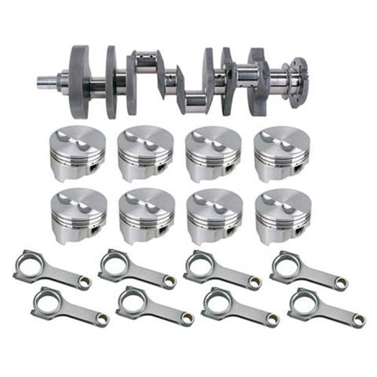Forged Small Block Chevy Rotating Assembly, 383 Dome, H-Beam, 5.7 Rods