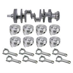 Forged Small Block Chevy Rotating Assembly, 395 .063 Dome, 350 Mains, 6 Rod