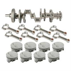 Light Forged Small Block Chevy Assembly, 434 Flat Top, 6 Rod, 350 Mains