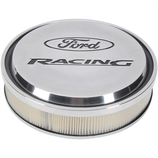 ProForm 302-383 Ford Racing Slant-Edge Air Cleaners, Polished
