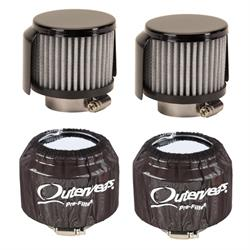 """Outerwears 3/"""" Shielded Crank Breather Pre-Filter W//O Top Yellow"""