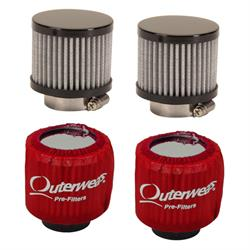 Speedway Motors Valve Cover Breather/Outerwear Filter Kit