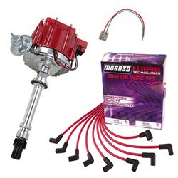 SBC HEI Distributor and Spark Plug Wiring Kit, Under Headers