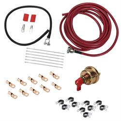 Speedway Motors Battery Cable Installation Kit, Ends/Switch