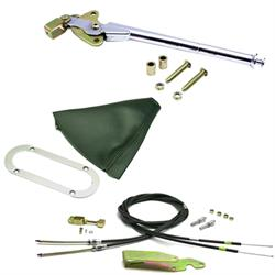 Lokar Trans Mount Emergency Hand Brake Kit, 11 Inch, Chrome