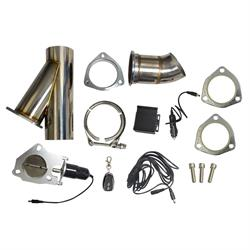 Universal 2-1/2 Inch Remote Control Electric Exhaust Cutout Kit