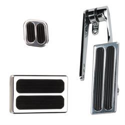 Speedway Motors Pol. Alum. Throttle/Brake/Dimmer Pedal Kit, Small