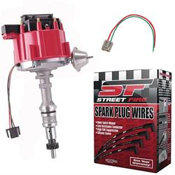 SBF HEI Distributor and Spark Plug Wiring Kit, Cast Camshaft