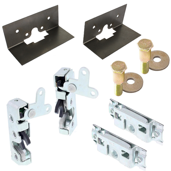 Universal Slim-Line Bear Jaw Complete Door Latch Kit