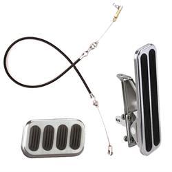 Lokar Standard Floor Mount Throttle/Brake Pedal Kit, w/Cable