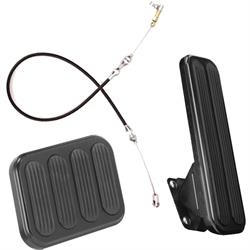 Lokar Midnight Series XL Throttle/Brake Pedal Kit, with Cable