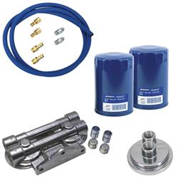 SBC Remote Dual Oil Filter Relocation Kit
