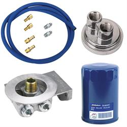 Ford/Mopar Remote Oil Filter Relocation Kit, Horizontal In/Outlet