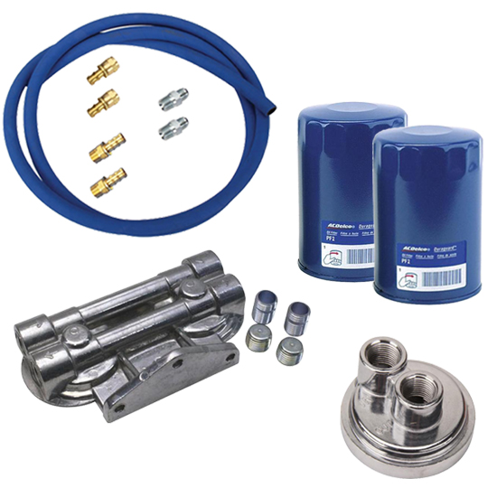 Ford/Mopar Remote Dual Oil Filter Relocation Kit