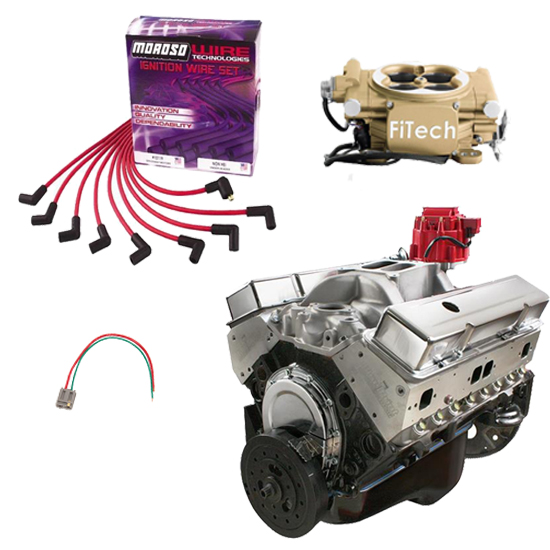 BluePrint 383 SBC Crate Engine Package, FiTech Easy Street EFI