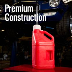 Utility Jugs w/Filler Hose, Red, 5 Gallon, Pair