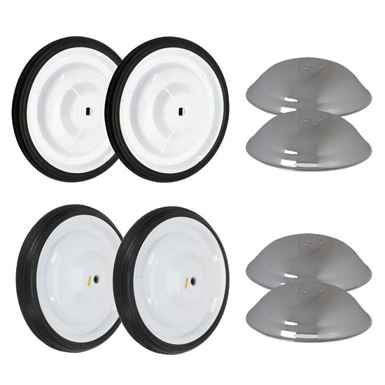 6.5 Inch White Murray Pedal Car Wheel and Tire Kit