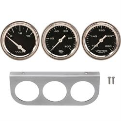 Speedway 3-Gauge Set with Aluminum Panel