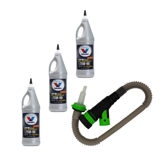 Rear Differential Fluid Change Kit, Valvoline 75W90 Gear Oil
