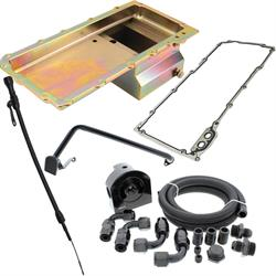 LS Engine Swap Conversion Low Profile Oil Pan Kit, Zinc, 10 AN