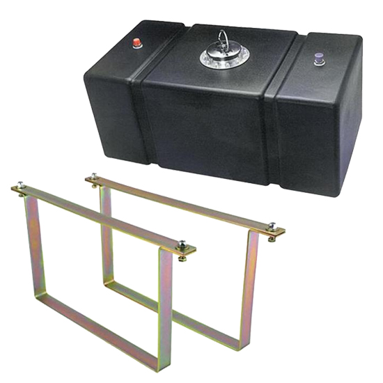 Jaz 16 Gallon Polyethylene Fuel Cell and Mounting Straps Kit