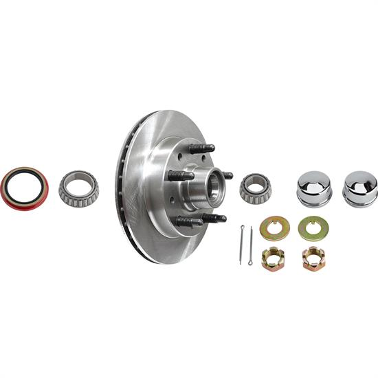 AFCO Hybrid Pinto Brake Rotor & Bearing Kit, 5 on 5