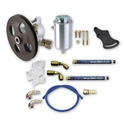 Complete Power Steering Pump Kit -Pump/Mounts/Tank/Lines/Fittings